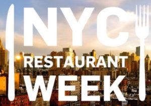 Loosen your belt buckle! NYC Restaurant week is on until Feb 10th