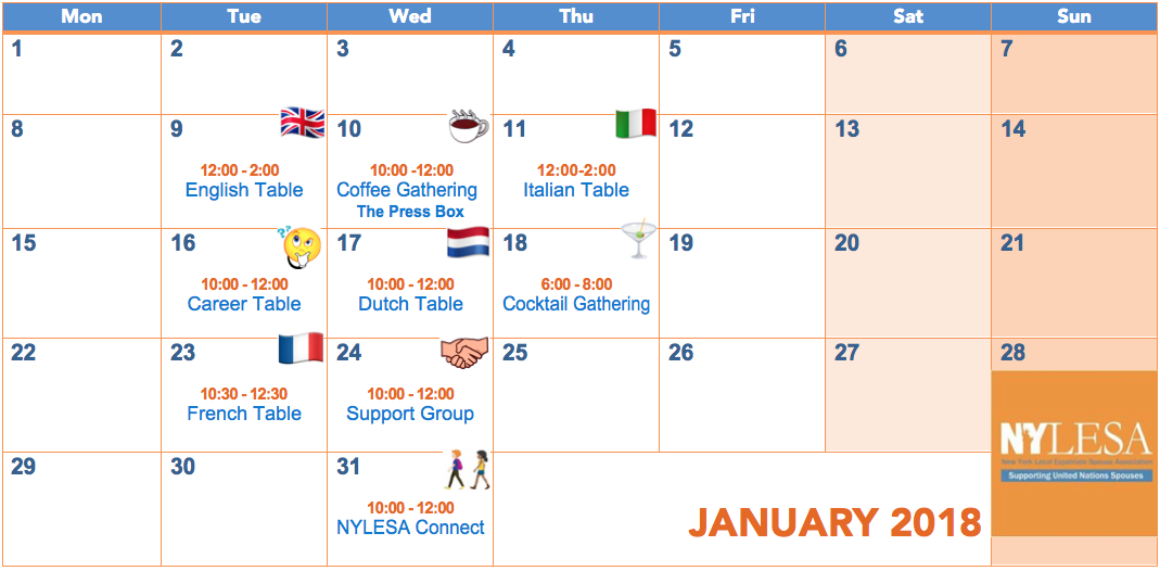 NYLESA January Events