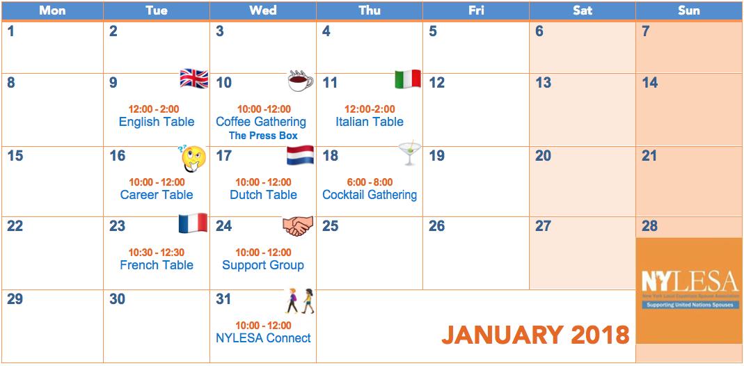 NYLESA January Events